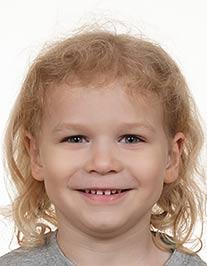 Zdjęcie paszportowe dziecka, zdjęcie dziecka do dowodu, fotograf Gdańsk