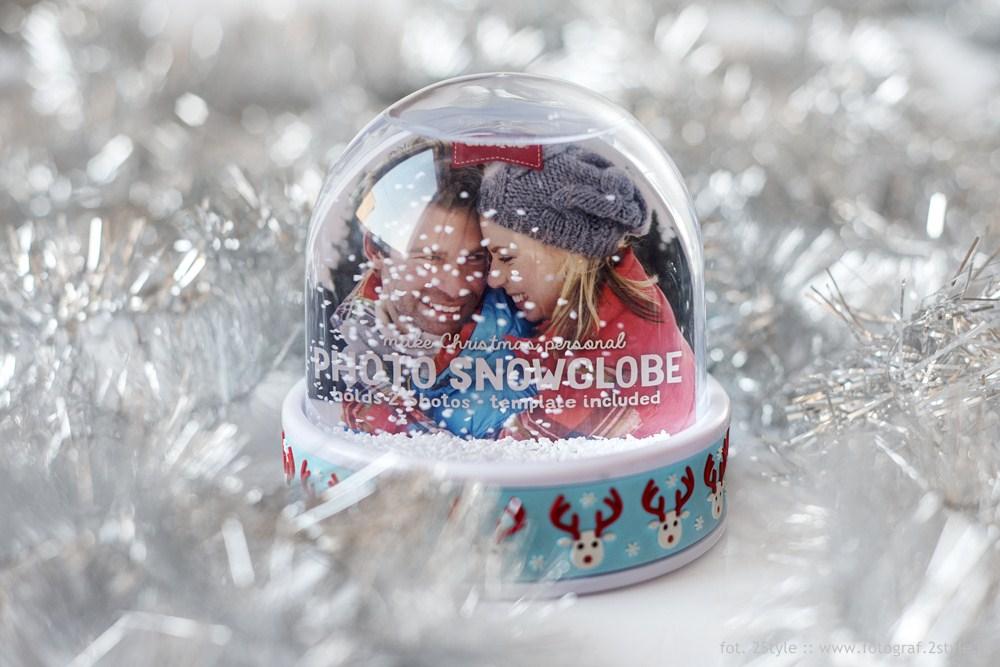 Śnieżna fotokula na dwa zdjęcia