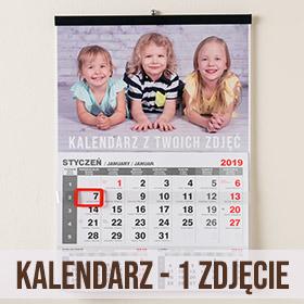 Kalendarz ścienny z jednym zdjęciem
