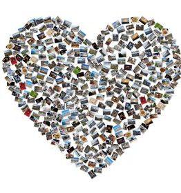 Kolaż ze zdjęć serce to pomysł na prezent