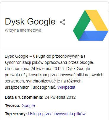 Przechowywanie zdjęć na dysku Google