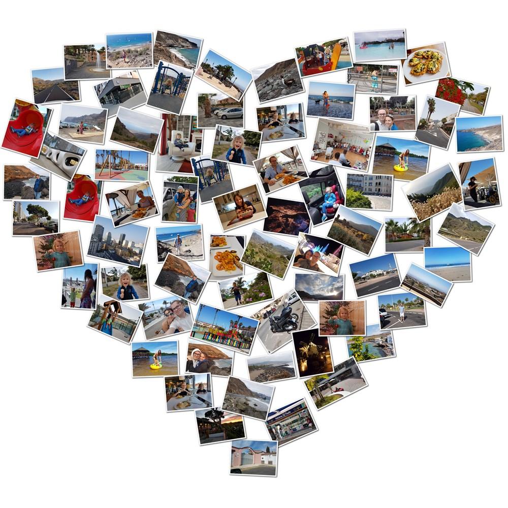 Kolaż serce ze zdjęć prezent